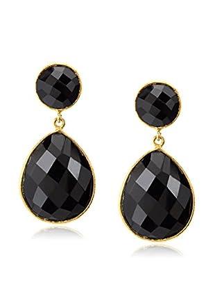 Saachi Black Onyx Double Drop Earrings