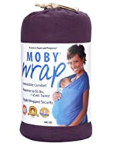 Moby Wrap Organic 100% Cotton Baby Carrier, Eggplant
