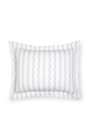 Coyuchi Two-Tone Stripe Pillow Sham (White/Indigo)