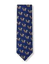 Don Quixote Navy Blue Silk Tie