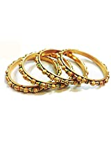 Divinique Jewelry Gold plated Bangles Set for Women of 4 2.4 SIE