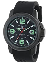 Smith & Wesson Men's SWW-1100 Amphibian Commando Black Glowing Dial Rubber Band Watch