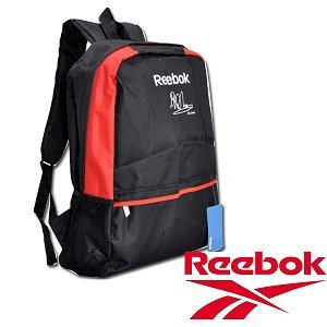 New M.S.Dhoni Signature Reebok Backpack. | Color Black