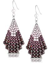 TARINA TARANTINO Hematite Fan Purple Drop Earrings
