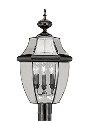 Crestwood Mabel 3-Light Post Top, Black