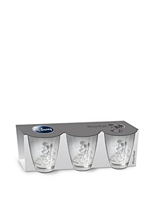 Set 3 Vasos Cristal Mickey Mouse