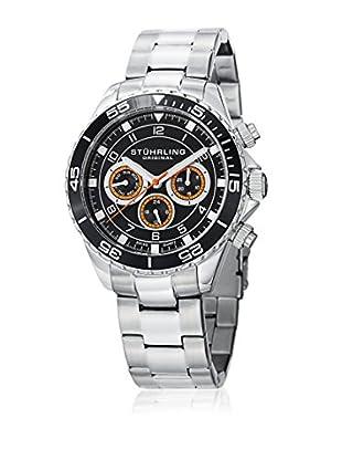 Stührling Original Uhr mit Schweizer Quarzuhrwerk Aquadiver 643.01 silberfarben 42  mm
