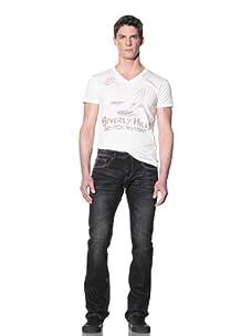 Cult Of Individuality Men's Rebel Straight Jean (Eternal Black)