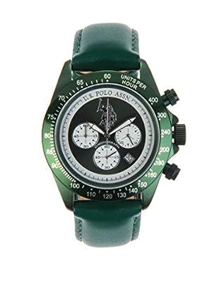 U.S. POLO ASSN. Uhr mit japanischem Quarzuhrwerk Bennet grün 42 mm
