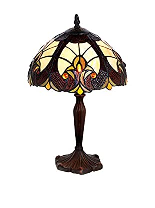 River Of Goods Stained Glass Halston Table Lamp, Amber