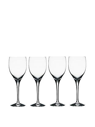 Orrefors Set of 4 Illusion Wine Glasses