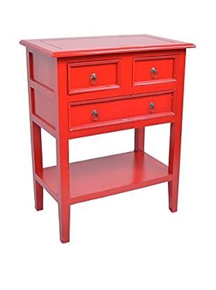 Jeffan Newton Side Table, Red