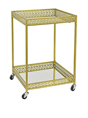 Three Hands Metal Rolling Table, Gold