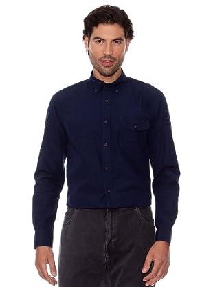 Pedro Del Hierro Camisa Lisa (Azul Marino)