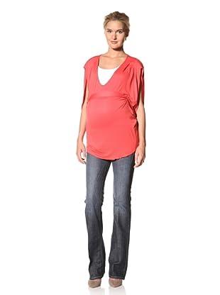 Lilac Maternity  Hannah Short Sleeve Top (Coral)