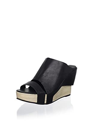 Antelope Women's High-Wedge Slide Sandal (Black)