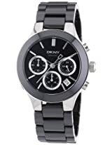 DKNY CERAMIC CHRONOGRAPH BLACK DIAL WOMEN'S WATCH NY4914