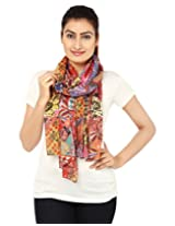 Anekaant Multi Printed Cotton Women's Scarf