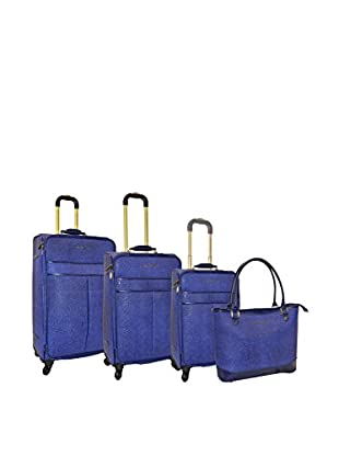 Adrienne Vittadini Stingray 4-Pc Luggage Set, Navy