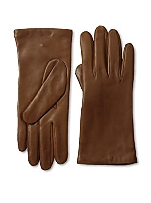 Portolano Women's Cashmere Lined Leather Gloves (Tobacco)