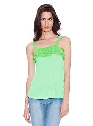 Santa Bárbara Camiseta Con Encaje (Verde)