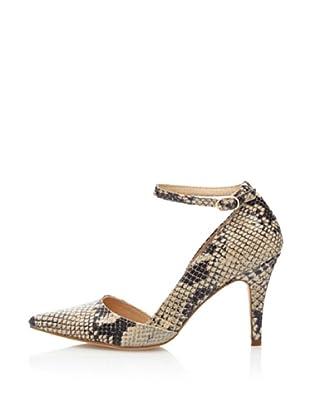 Cortefiel Zapatos Salón Tacón Mancha Animal (Tostado)