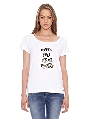 Pepe Jeans London Camiseta Trad (Blanco)