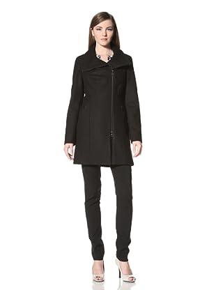 Calvin Klein Women's Wool Zip-Up Jacket (Black)