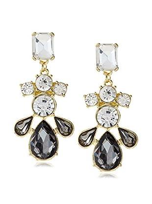 Stella & Ruby Grey & White Teardrop Earrings