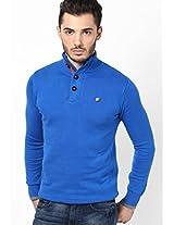 Aqua Blue High Neck Sweater