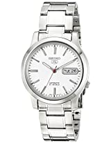 Seiko Men's SNK789 Seiko 5 Automatic White Dial Stainless-Steel Bracelet Watch