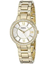 Fossil Virginia Analog Silver Dial Women's Watch - ES3283