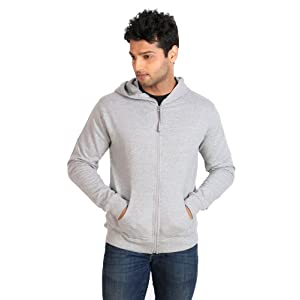 Campus Sutra Hooded Mens Sweatshirt - Grey