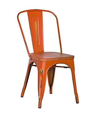 LO+DEMODA Set Silla 2 Uds. Antique Terek Vintage Naranja