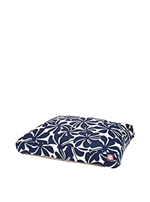 Plantation Small Rectangle Pet Bed, Navy