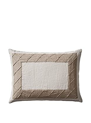 Vera Wang Roses Jacquard Inserted Diamond Tuck Pillow, Stone