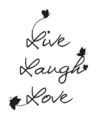 Ambiance Sticker Wandtattoo Live Laugh Love