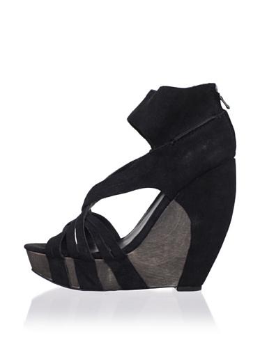 Joe's Jeans Women's Gavin Wedge Sandal (Black)