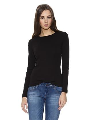 Mango Camiseta Sportive (Negro)