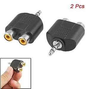 3.5mm 1/8Stereo Male to 2 Female RCA Splitter Adapter