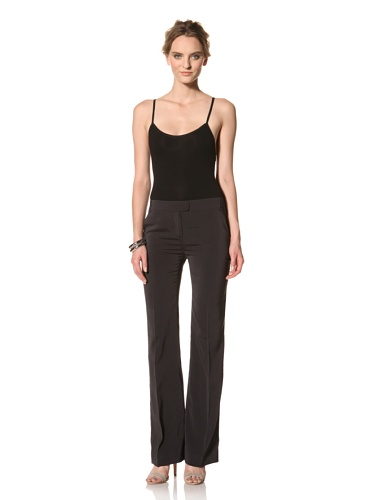 Les Copains Women's White Label Silk Trouser (Asphalt)