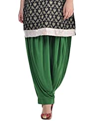 Sohniye Women's Viscose Patiala [GAKP38_Green_Free Size]
