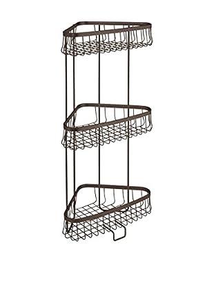 InterDesign York Lyra 3-Tier Shower Shelf, Bronze
