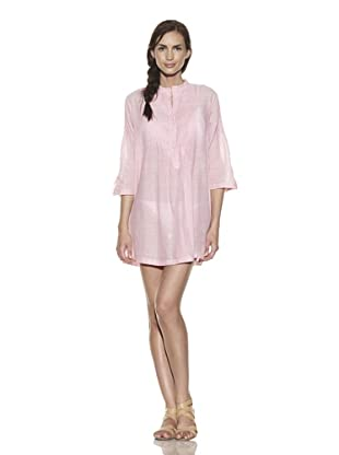 TIKKA Women's Thin Stripe Pintuck Tunic (Pink)