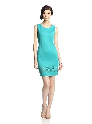 Romeo & Juliet Couture Women's Sleeveless Scuba Dress (Peacock Blue)
