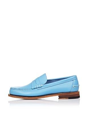 Sebago Zapato Mocasín Con Antifaz (Azul Celeste)