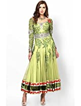 Embroidered Green Anarkali