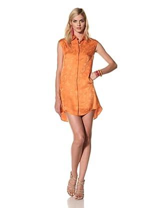 Thakoon Women's Sleeveless Jacquard Shirt Dress (Orange)