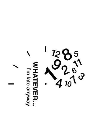 Ambiance Live Wandtattoo Clock Whatever I
