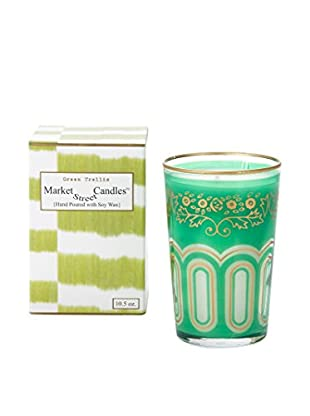 Market Street Candles 10.5-Oz. Green Trellis Moroccan Candle